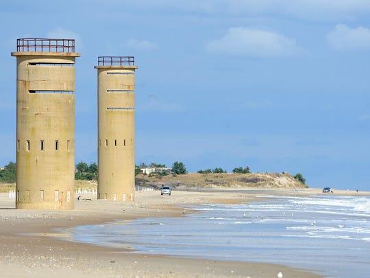 World War II sentry towers along the Delaware coast