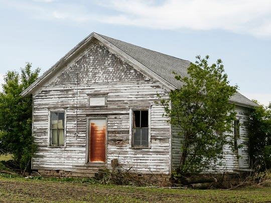 Round Prairie School, one of the last, standing one-room