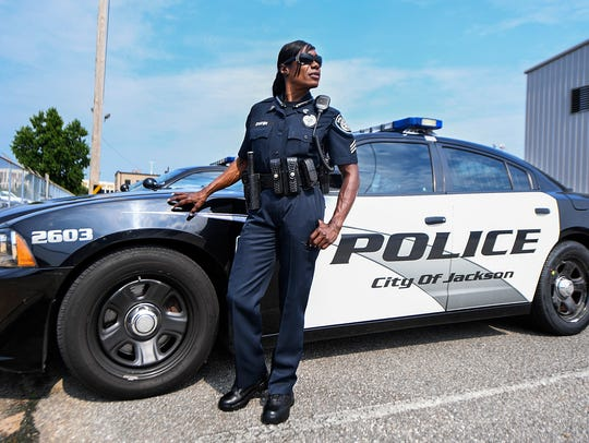 Jackson Police Officer Rochell Staten earned her IFBB