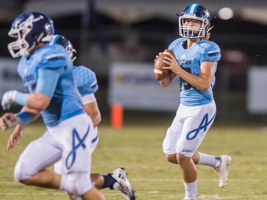 Ascension Episcopal freshman quarterback Cole Simon