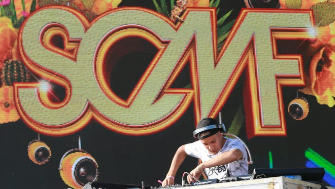 El Paso's Flash performs Sunday during the Sun Cty Music Festival. The aspiring DJ and producer was the winner of a contest, sponsored by the festival, to perform at the two-day festival at Ascarate Park.