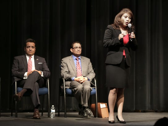 District attorney candidate Yvonne Rosales fields a