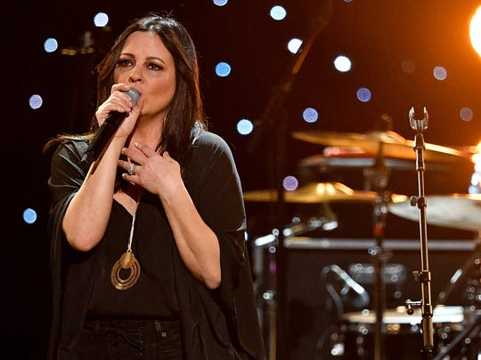 Sara Evans performs during the Charlie Daniels Volunteer