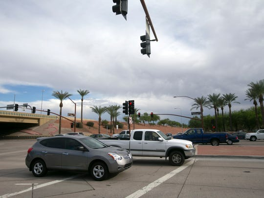 The intersection of Price Road and Chandler Boulevard saw the highest number of crashes in the Southeast Valley in 2013.