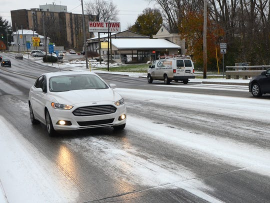 Motorists faced snowy and icy roads this season for