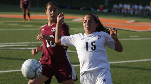 Mamaroneck's Jessica Barrios (15), pictured here in