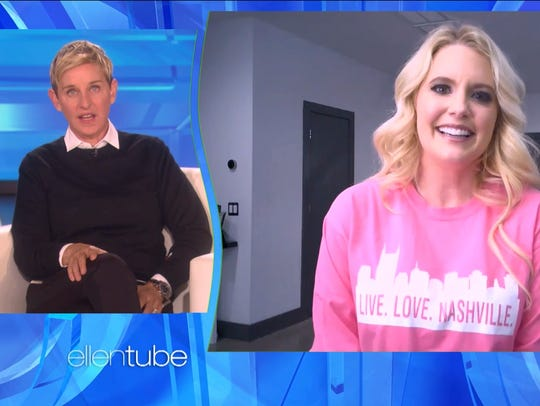 "Taylor Rowe, who runs the nonprofit Live Love Nashville, appeared on ""The Ellen DeGeneres Show"" Jan. 29, 2018."