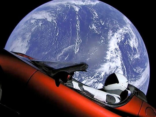 This image from video provided by SpaceX shows the