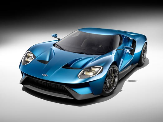The all-new, carbon-fiber, mid-engined Ford GT supercar.