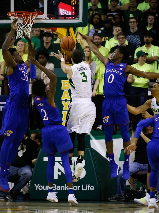 USP NCAA BASKETBALL: KANSAS AT BAYLOR S BKC BAY KAN USA TX