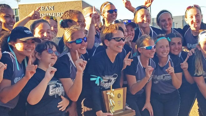 Egg Harbor Township's softball team poses with its Group 4 state championship trophy. EHT is the Courier-Post Softball Team of the Year.