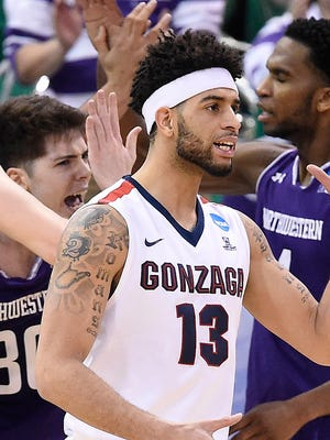 Gonzaga Bulldogs guard Josh Perkins.