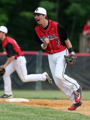 South Brunswick vs. Hunterdon Central in Central Group IV baseball final held in Flemington on Friday June 3, 2016.