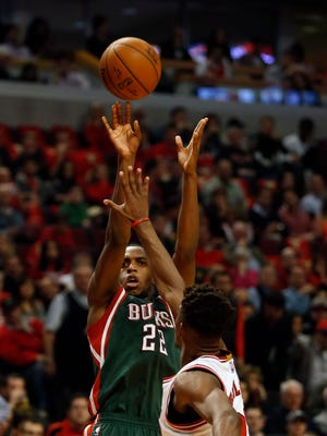 Bucks guard Khris Middleton averaged 13.4 points, 4.4 rebounds and shot better than 40 percent from 3-point range last year.