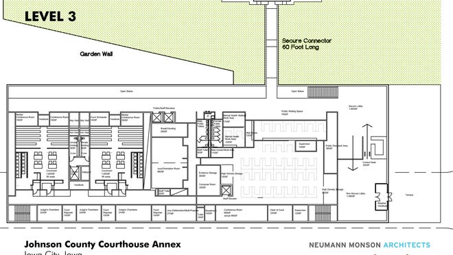 Courthouse annex plan Level 3
