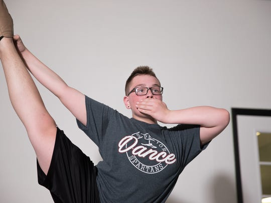 Kaiden Johnson, a sophomore at Superior High School in Superior, Wis., has danced competitively for nine years.