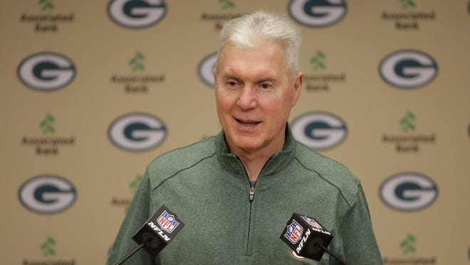 Green Bay Packers GM Ted Thompson speaks to the media about the team's first round pick of Kenny Clark of UCLA.