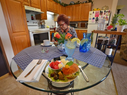 Jan Chapman, Melrose, is known for her advice on cooking and health. She prepared lunch for a visitor one day this month.