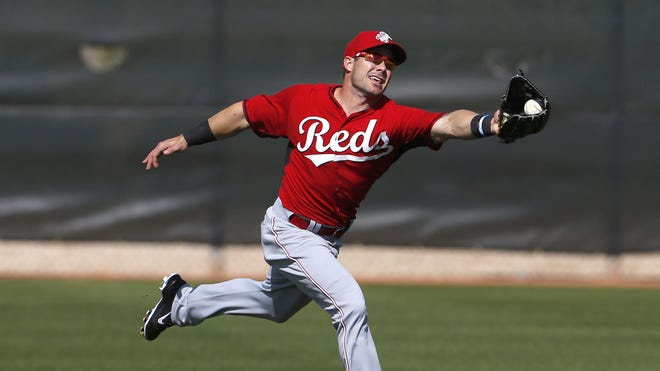 Skip Schumaker injured his left shoulder, but is a right-handed thrower.
