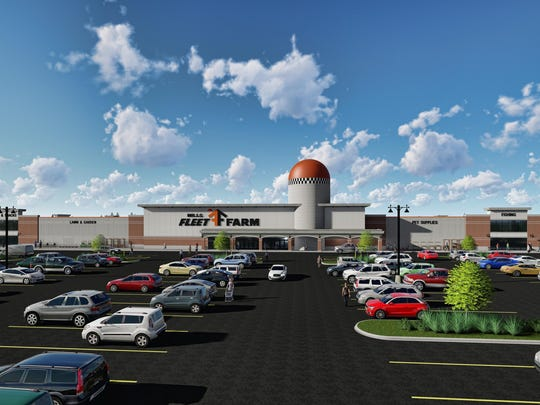 A 218,628-square-foot Mills Fleet Farm store is being proposed at Pabst Farms in Oconomowoc.