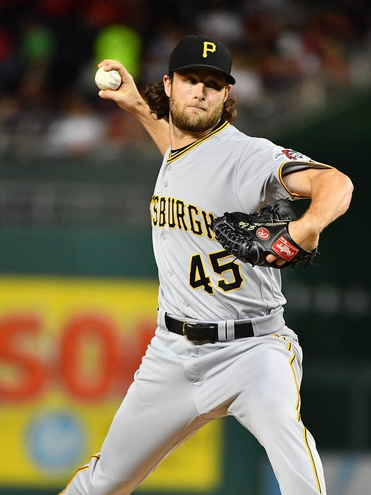 MLB: Pittsburgh Pirates at Washington Nationals - Pirates Trade Gerrit Cole To World Series Champion Astros
