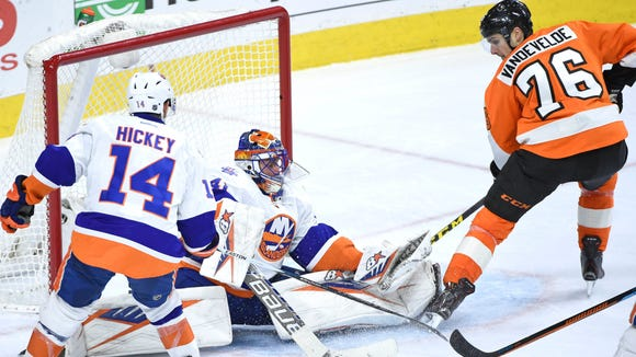 Chris VandeVelde and the Flyers dropped a shootout to the Islanders when they visited in early December.