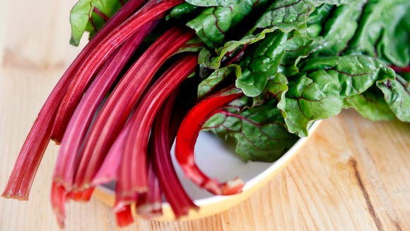 Swiss chard, part of a CSA share from Prescott's Patch.