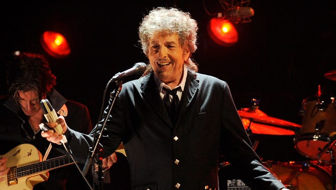Bob Dylan performs in 2012.