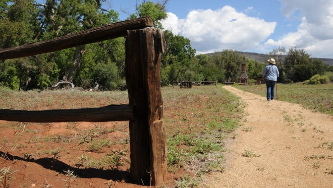 Evidence of old ranching operations can be seen along the walk to the petroglyph site east of Sedona.