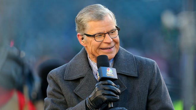 Dan Patrick on the set before last season's NFC Divisional playoff game between the Philadelphia Eagles and the Atlanta Falcons.
