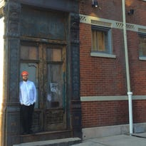 Ryan Santos in front of his future restaurant Please at 14th and Clay streets in Over-the-Rhine