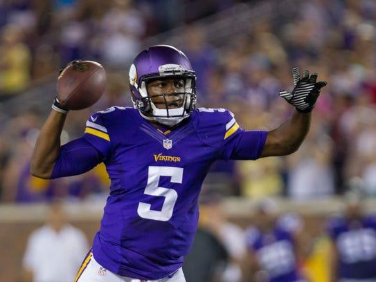 Aug 16, 2014; Minneapolis, MN, USA; Minnesota Vikings