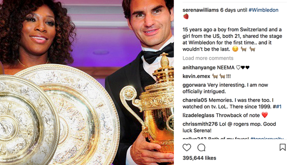 Serena Williams is counting down to Wimbledon with fantastic throwback photos