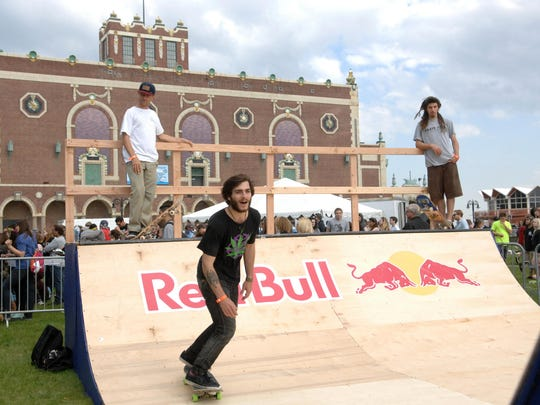Action at the 2014 Skate and Surf Festival in Asbury Park.
