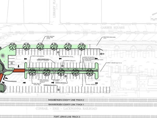 The village intends to redesign the parking lot next
