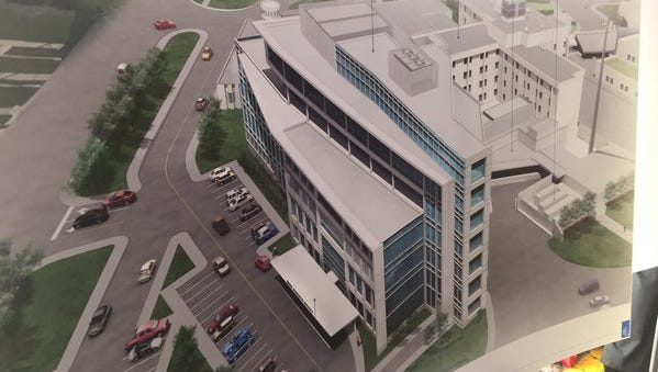 Rendering of the Neuro-Diagnostic Institute and Advanced Treatment Center.