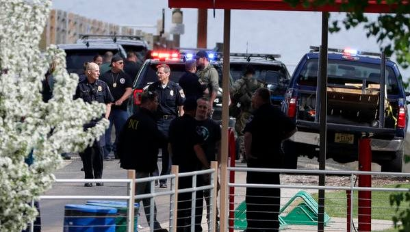 Police officers from multiple agencies descended on Fritse Park in Fox Crossing near the Fox Cities Trestle Trial bridge shortly after 3 p.m. Wednesday. Police confronted a man with a knife on the bridge.