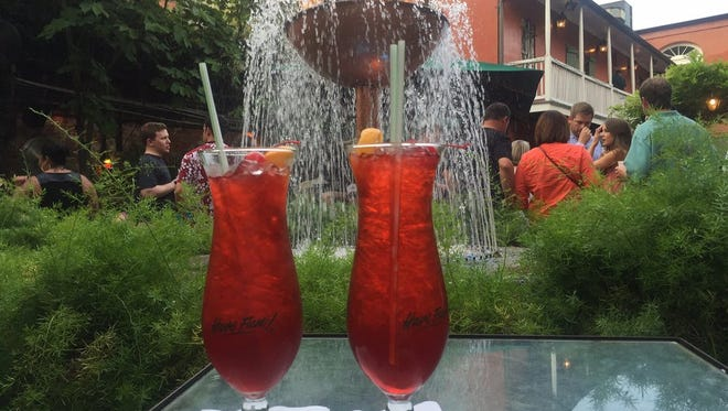 Two Hurricanes, shown here in the courtyard at Pat O'Brien's in New Orleans.
