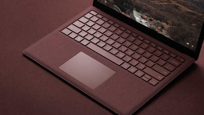 Microsoft Surface laptop unveiled in New York on May 2, 2017.