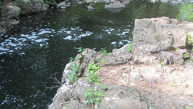 Devil's Hole in Cedar Grove, the deepest part of the Peckman River, flows undisturbed in June 2015.