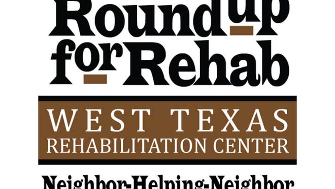 The Round-up for Rehab benefits the West Texas Rehabilitation Center.
