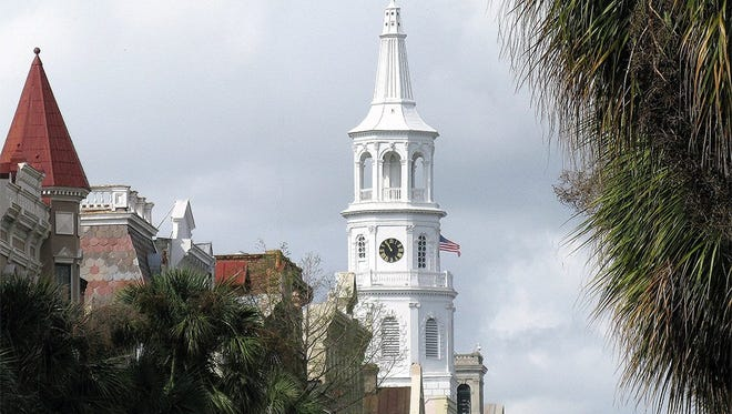 The steeple of St. Michael's Episcopal Church in Charleston, S.C. The historic property will return to the control of the Episcopal Church in South Carolina.