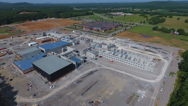 Construction is underway on Rockvale High School, southwest of Murfreesboro. The $59 million school is set to open August 2019.