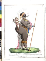 1822 etching of Sarah Baartman