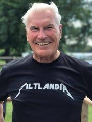 "Wilmington Mayor Michael Purzycki wears a ""Tiltlandia"" t-shirt."