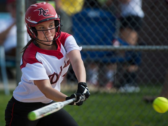 Annville-Cleona's Morgan Zimmerman connects for one