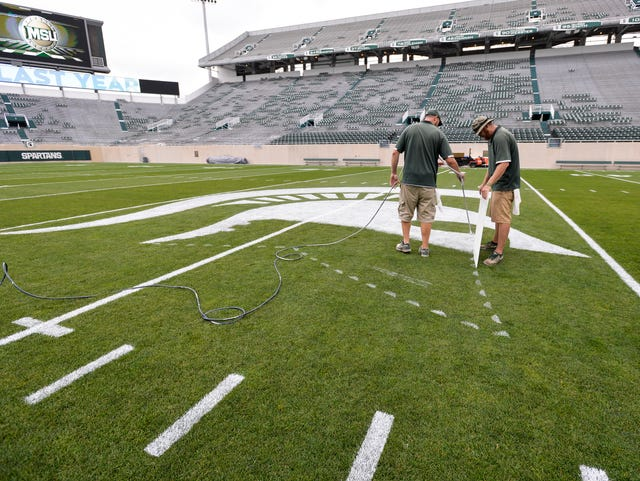 MSU turf crew puts finishing touches on nation's best college