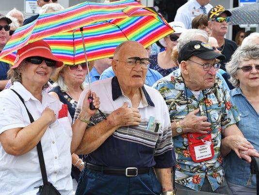 Veterans Day ceremony in Merritt Island