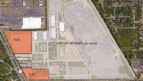 Pending Detroit City Council approval and environmental reviews, the City would take ownership of the land this summer.