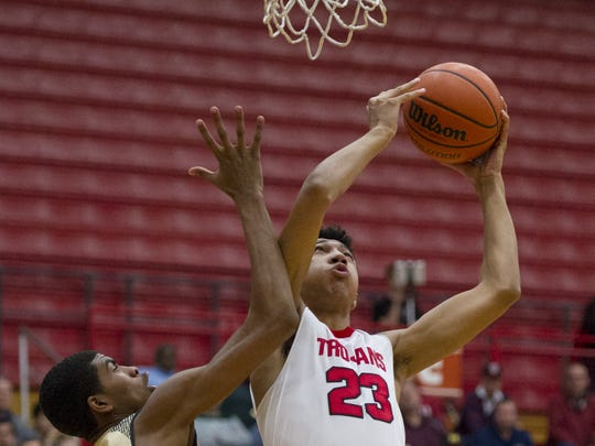 Center Grove junior Trayce Jackson-Davis (23).